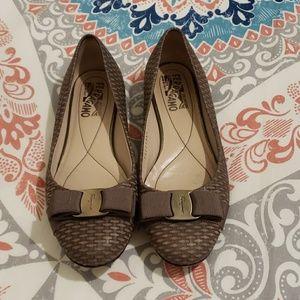 Salvatore Ferragamo Woven Leather Flats